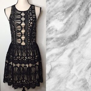 3/$15↘️Trixxi Black Lace Dress Size 9